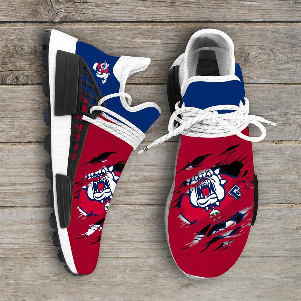 Fresno State Bulldogs Ncaa Sport Teams Nmd Human Race Sneakers Shoes