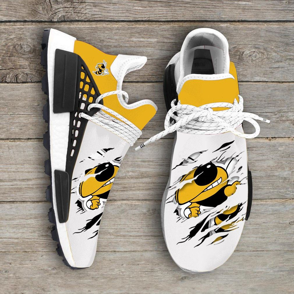 Ga Tech Yellow Jackets Ncaa Sport Teams Nmd Human Race Sneakers Shoes