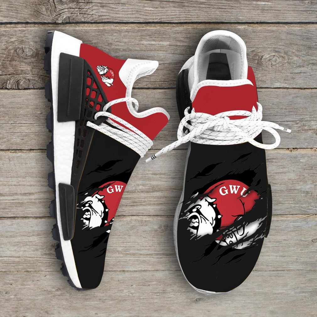 Gardner Webb Bulldogs Ncaa Sport Teams Nmd Human Race Sneakers Shoes