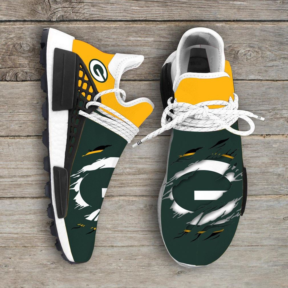 Green Bay Packers Nfl Nmd Human Race Shoes Sport Shoes Vip
