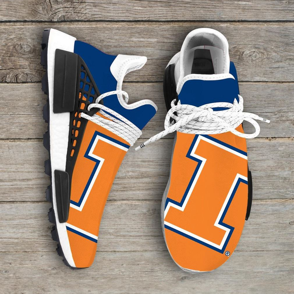 Illinois Fighting Illini Ncaa Nmd Human Race Sneakers Sport Shoes Running Shoes