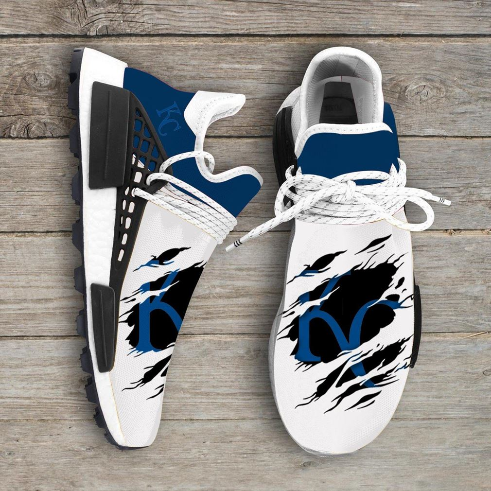 Kansas City Royals Mlb Sport Teams Nmd Human Race Sneakers Sport Shoes Running Shoes