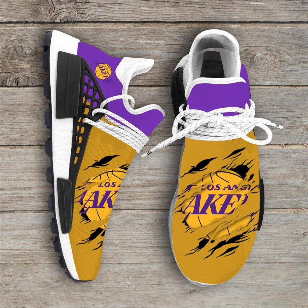 Los Angeles Lakers Nba Nmd Human Race Shoes Sport Shoes