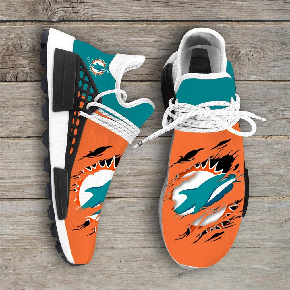 Miami Dolphins Nfl Sport Teams Nmd Human Race Sneakers Sport Shoes Running Shoes