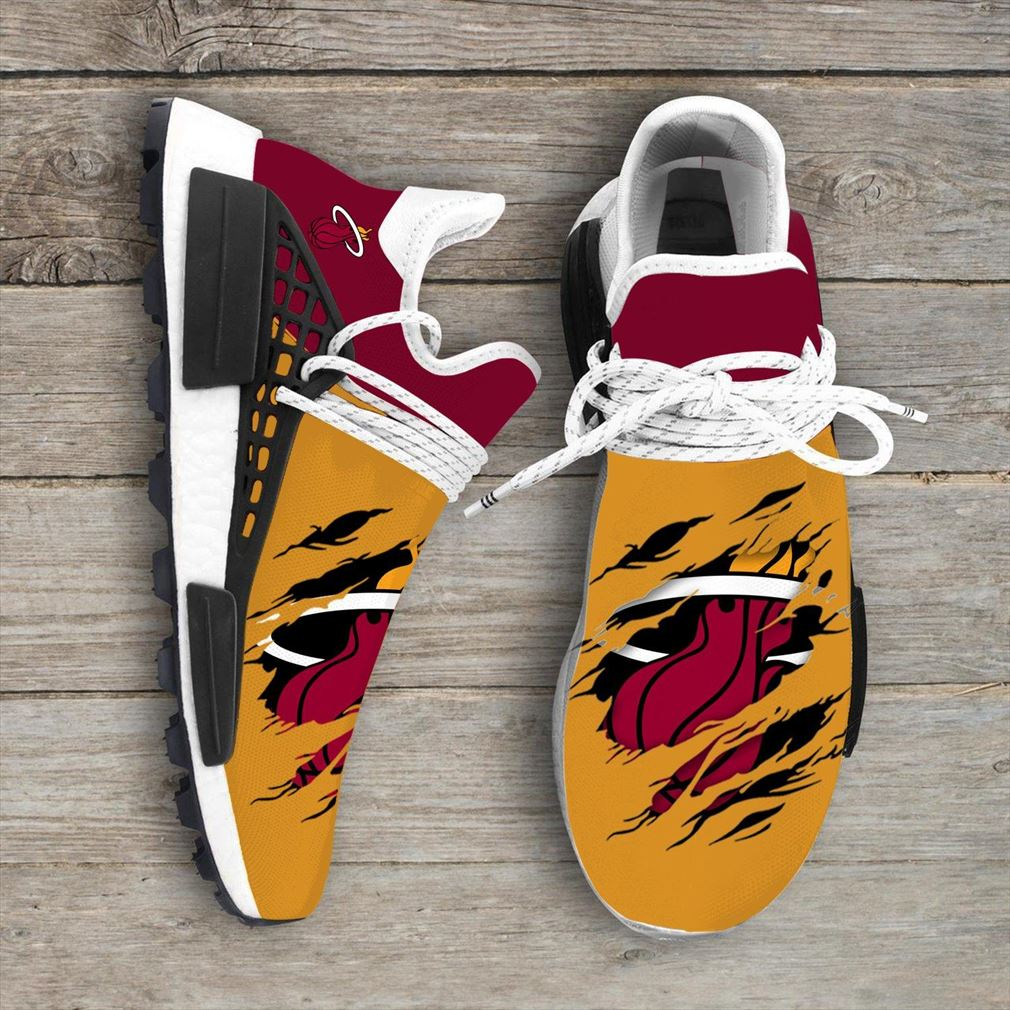 Miami Heat Nba Nmd Human Race Shoes Sport Shoes