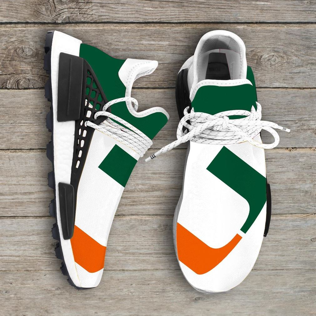 Miami Hurricanes Ncaa Nmd Human Race Sneakers Sport Shoes Running Shoes