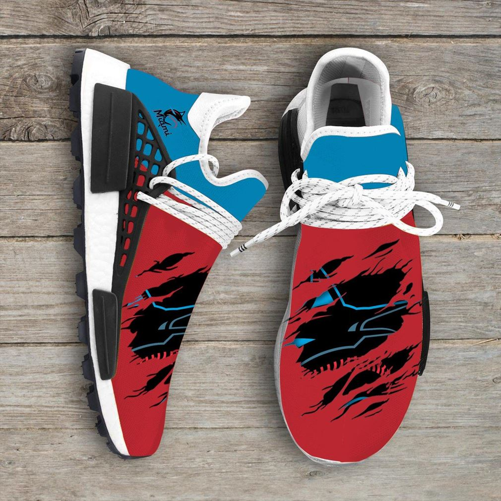 Miami Marlins Mlb Sport Teams Nmd Human Race Sneakers Sport Shoes Running Shoes