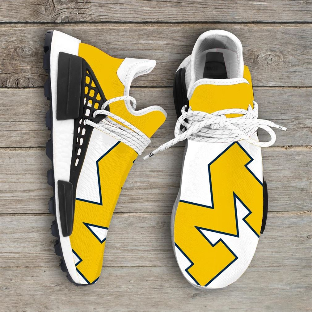 Michigan Wolverines Ncaa Nmd Human Race Sneakers Sport Shoes Running Shoes