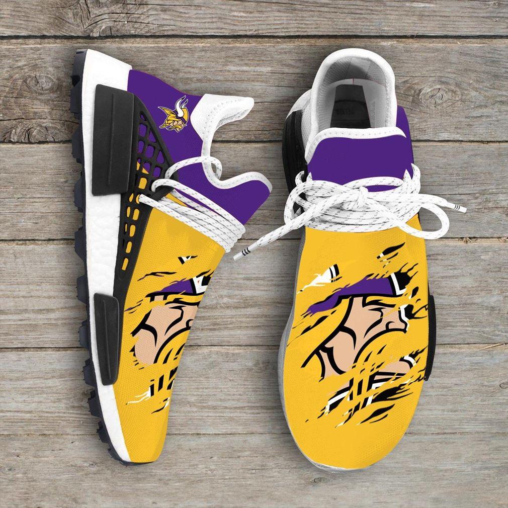 Minnesota Vikings Nfl Sport Teams Nmd Human Race Sneakers Sport Shoes Running Shoes