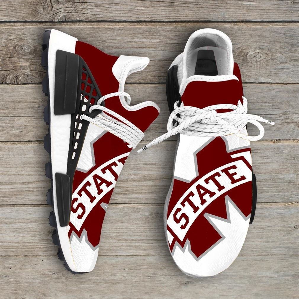 Mississippi State Bulldogs Ncaa Nmd Human Race Sneakers Sport Shoes Running Shoes