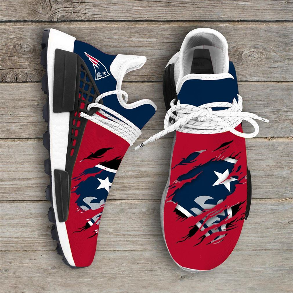 New England Patriots Nfl Sport Teams Nmd Human Race Sneakers Sport Shoes Running Shoes Vip