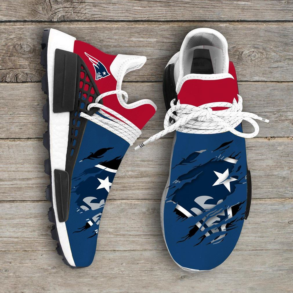 New England Patriots Nfl Sport Teams Nmd Human Race Sneakers Sport Shoes Running Shoes