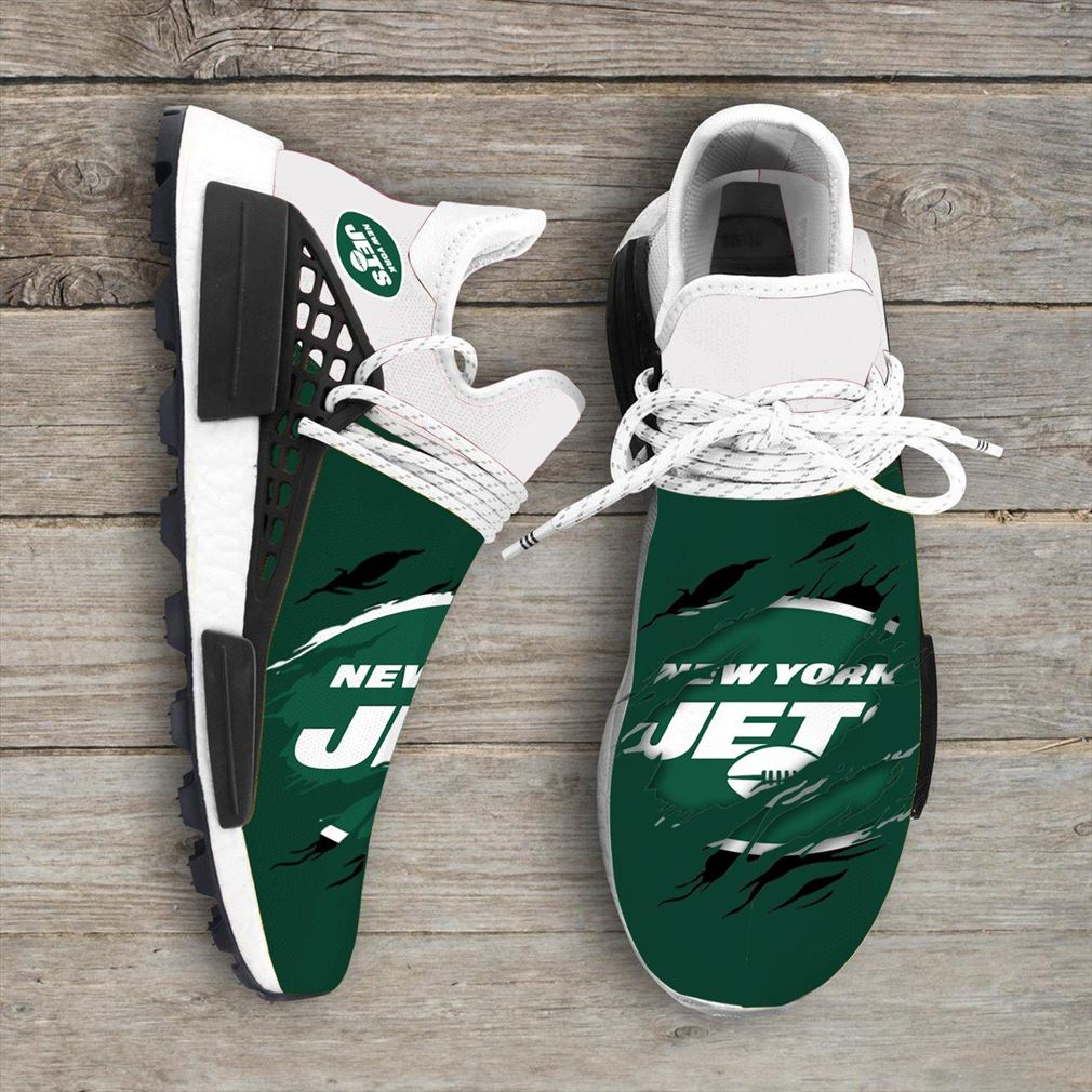 New York Jets Nfl Sport Teams Nmd Human Race Sneakers Sport Shoes Running Shoes
