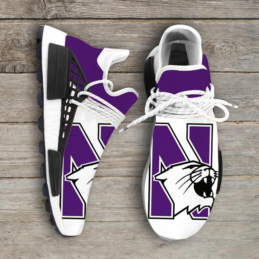 Northwestern Wildcats Ncaa Nmd Human Race Sneakers Sport Shoes Running Shoes