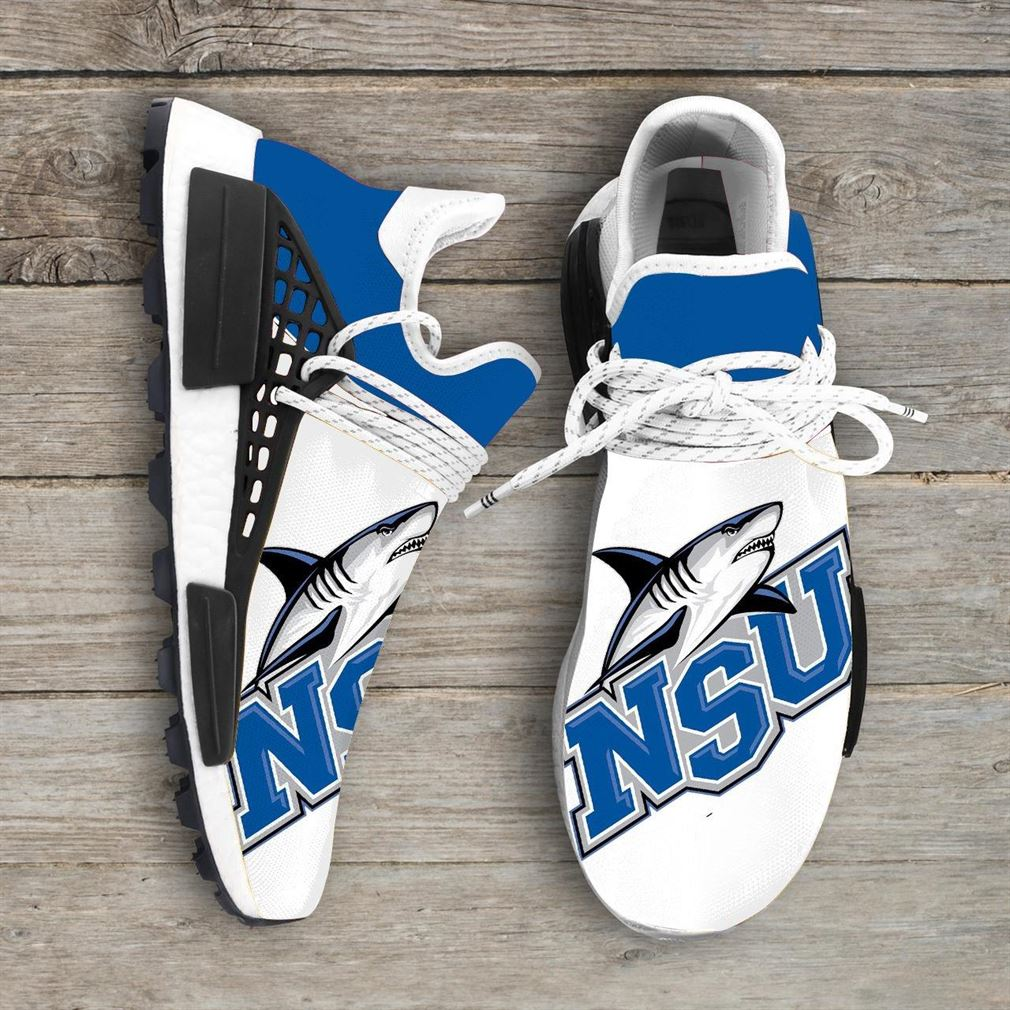 Nova Southeastern Sharks Ncaa Nmd Human Race Sneakers Sport Shoes Running Shoes