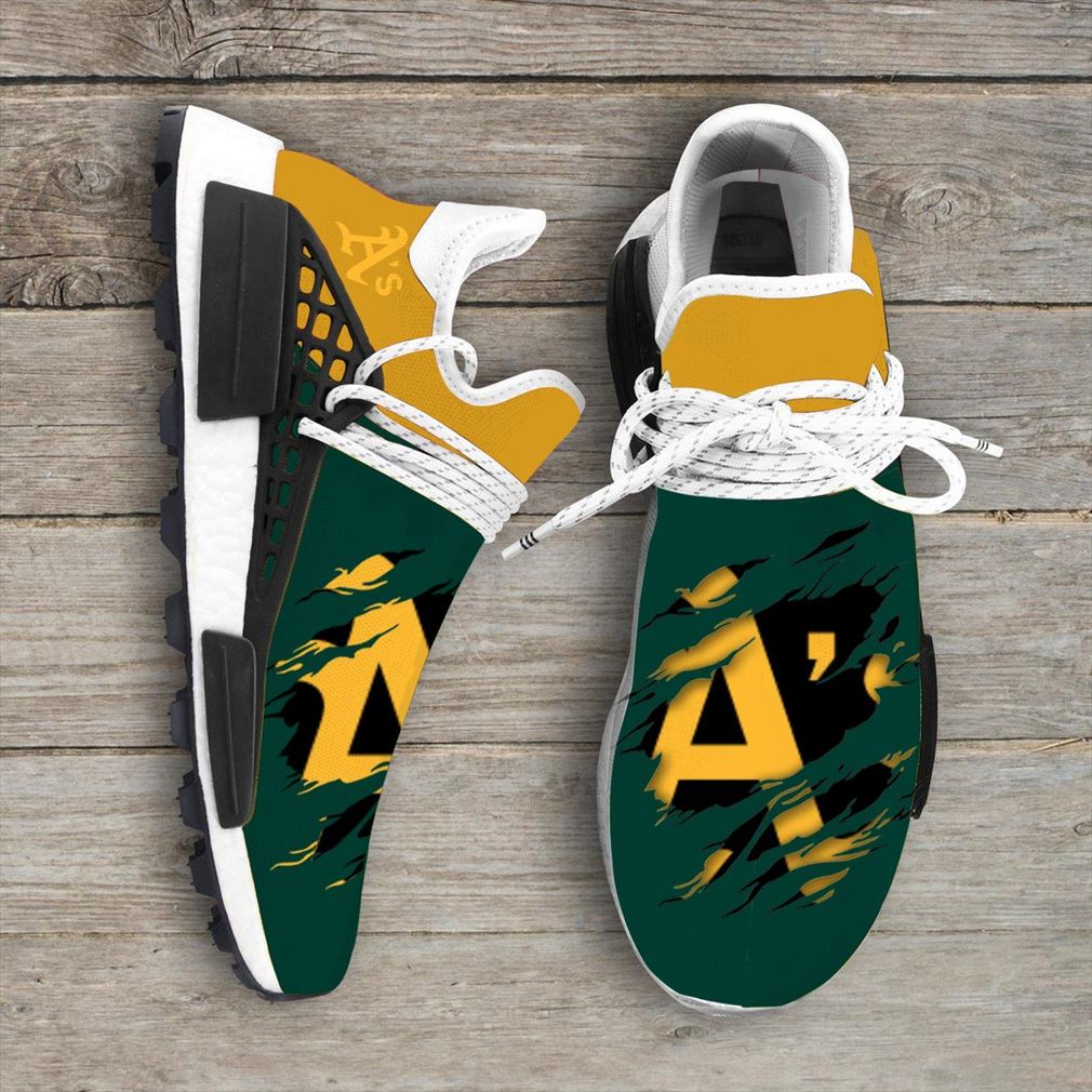 Oakland Athletics Mlb Sport Teams Nmd Human Race Sneakers Sport Shoes Running Shoes