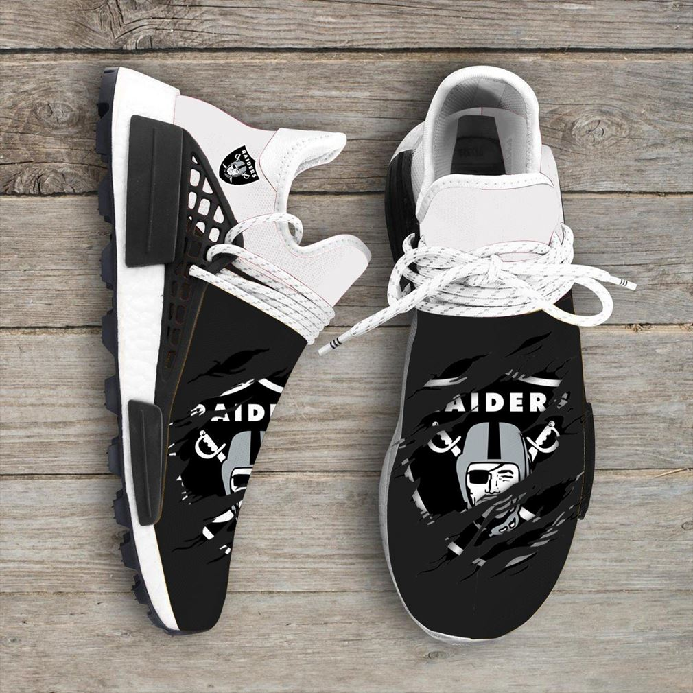 Oakland Raiders Nfl Sport Teams Nmd Human Race Sneakers Sport Shoes Running Shoes
