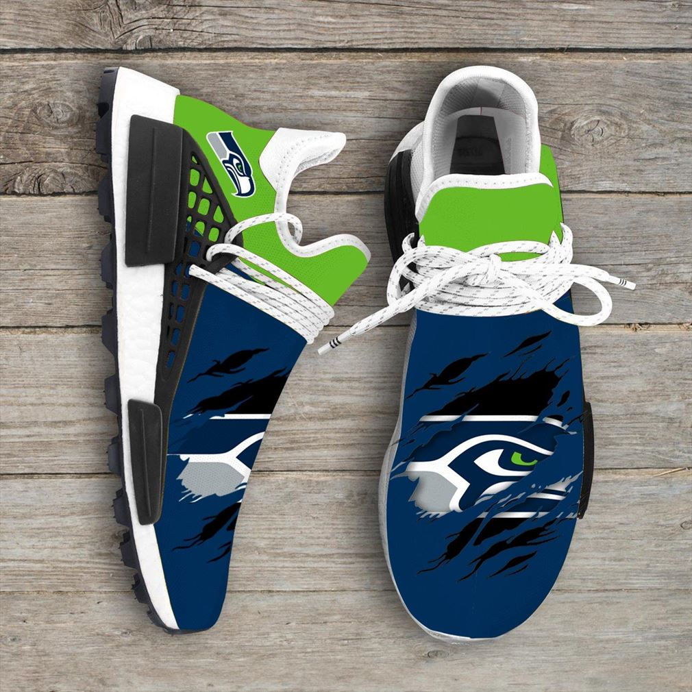 Seattle Seahawks Nfl Sport Teams Nmd Human Race Sneakers Sport Shoes Running Shoes Vip