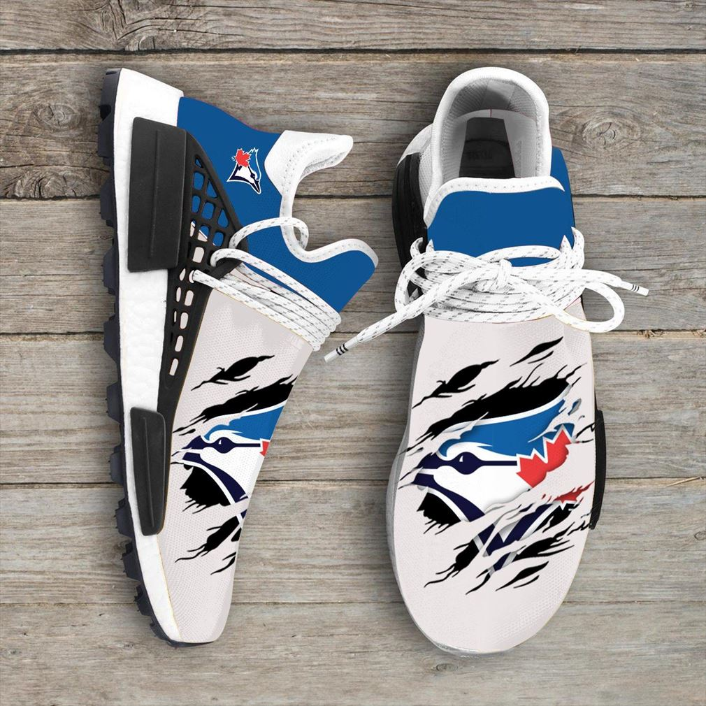 Toronto Blue Jays Mlb Sport Teams Nmd Human Race Sneakers Sport Shoes Running Shoes