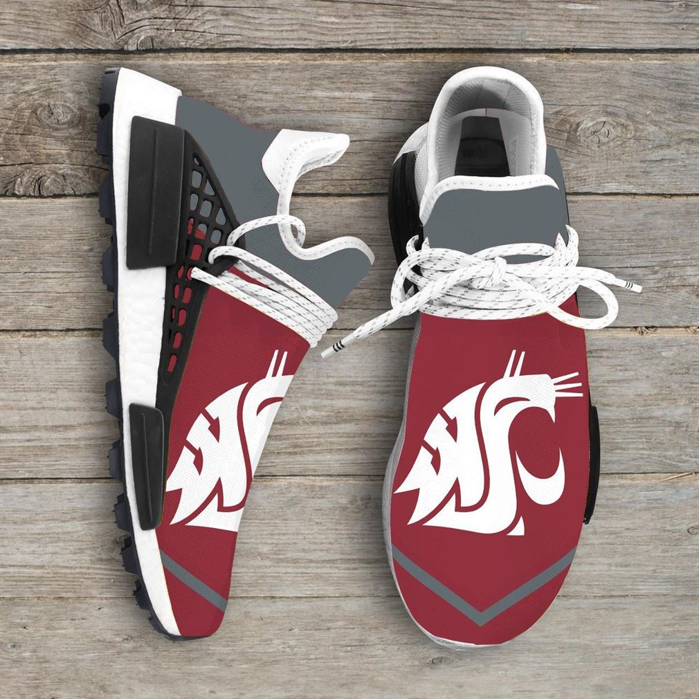 Washington State Cougars Ncaa Nmd Human Race Sneakers Sport Shoes Running Shoes