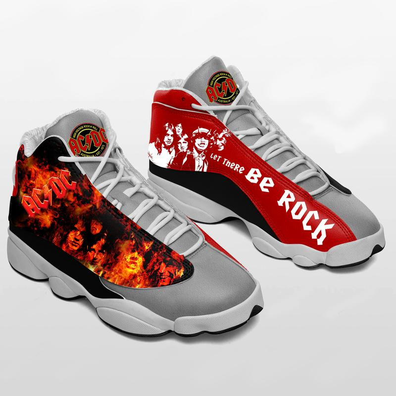 Acdc Rock Band Form Air Jordan 13 Sneakers Hard Rock Shoes Full Size