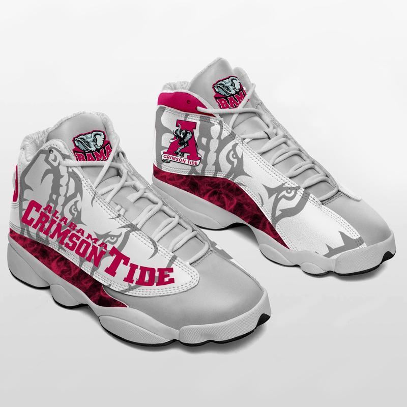 Alabama Crimson Tide Form Air Jordan 13 Sneakers Shoes Sport Plus Size