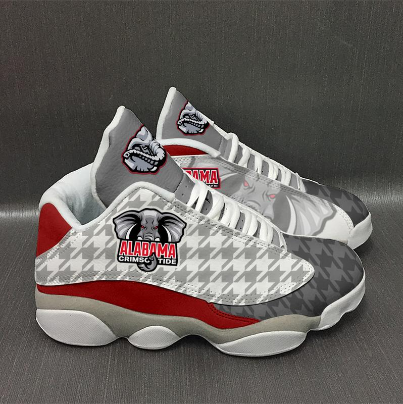 Alabama Crimson Tide Form Air Jordan 13 Sneakers Shoes Plus Size