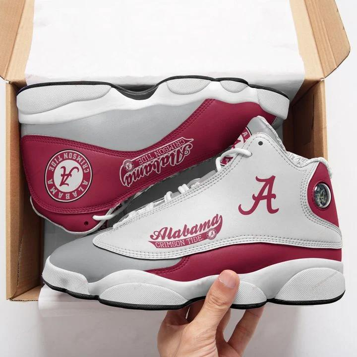 Alabama Crimson Tide Form Air Jordan 13 Sneakers Sport Shoes Plus Size