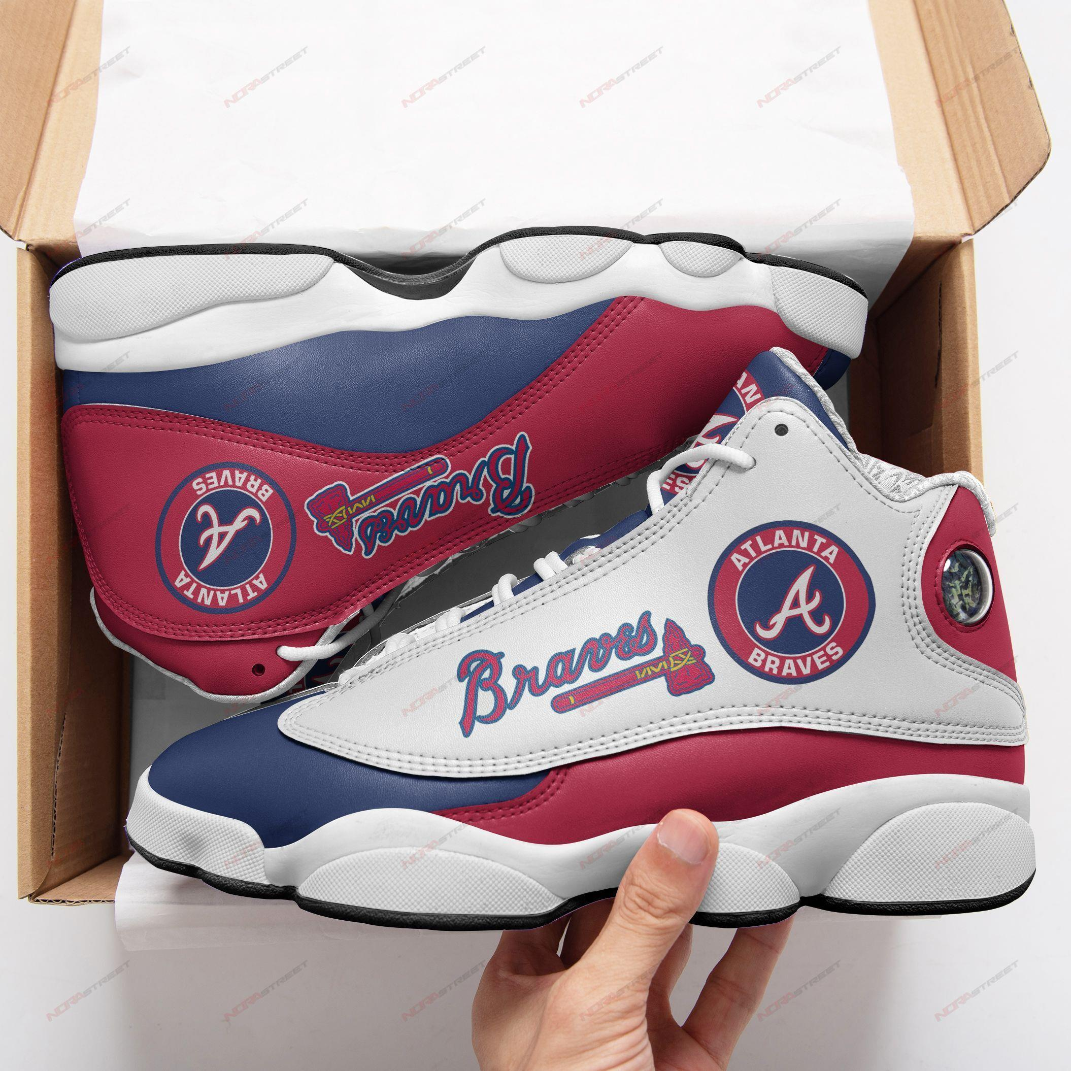 Atlanta Braves Air Jordan 13 Sneakers Sport Shoes Plus Size