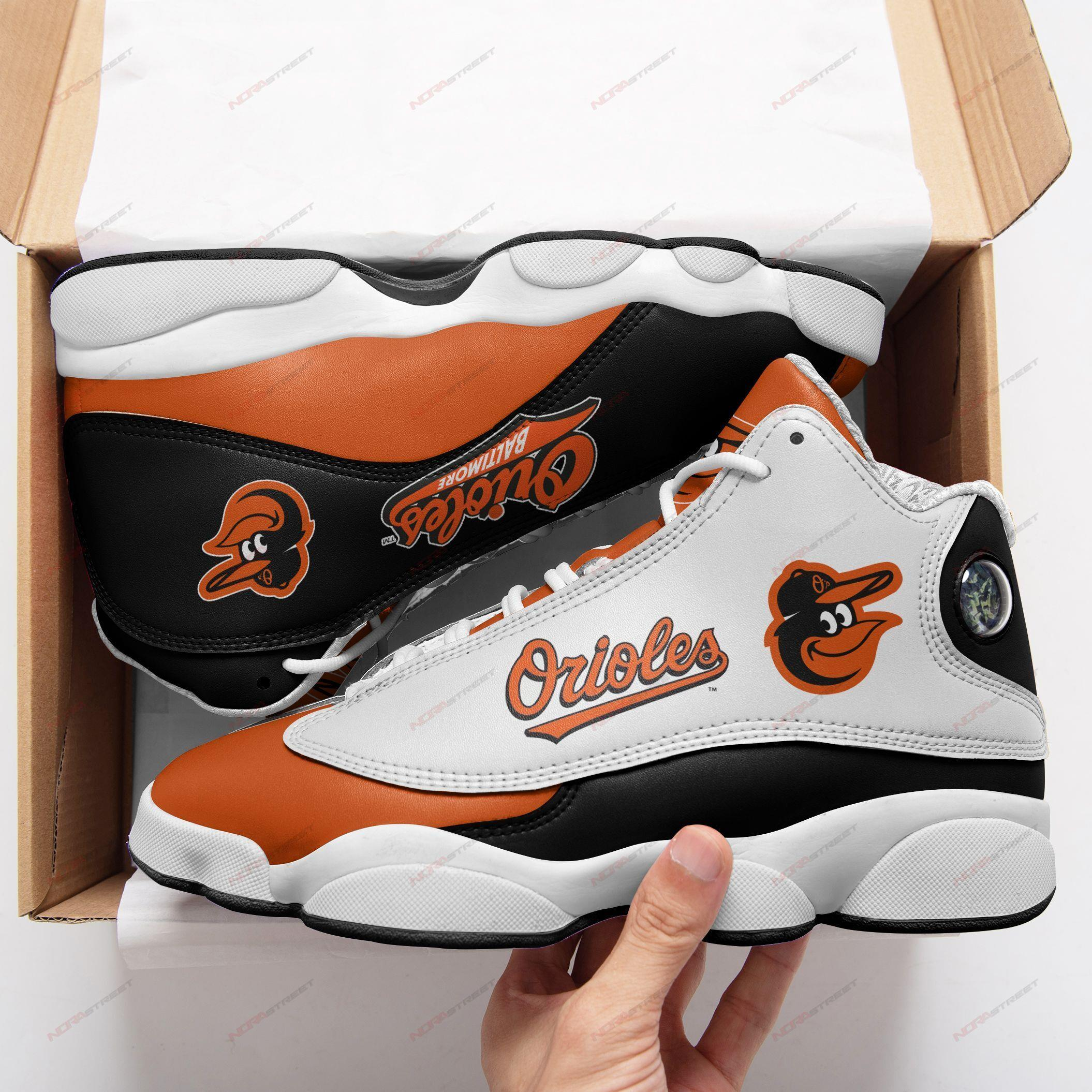 Baltimore Orioles Air Jordan 13 Sneakers Sport Shoes Full Size