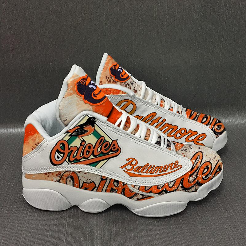 Baltimore Orioles Baseball Team Form Air Jordan 13 Sneakers