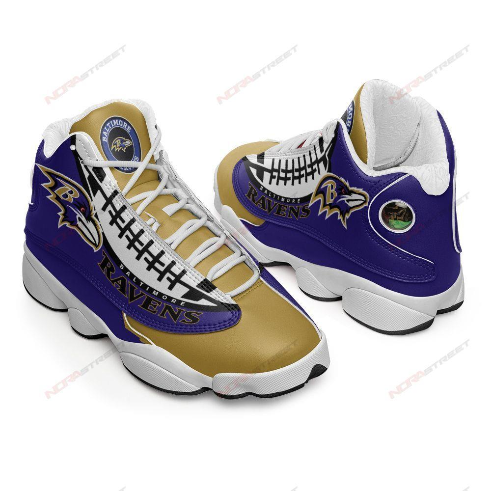 Baltimore Ravens Air Jordan 13 Sneakers Sport Shoes