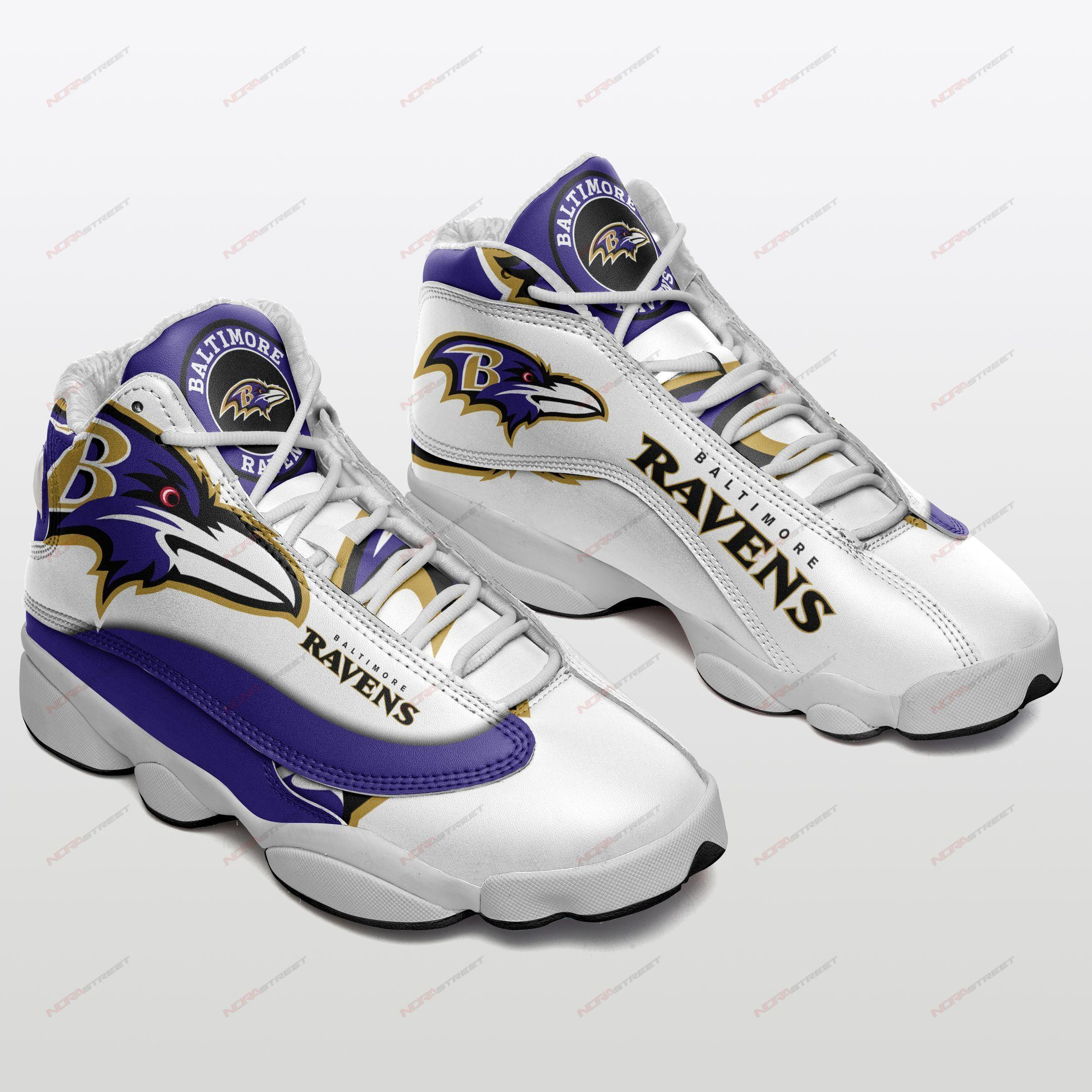 Baltimore Ravens Air Jordan 13 Sneakers Sport Shoes