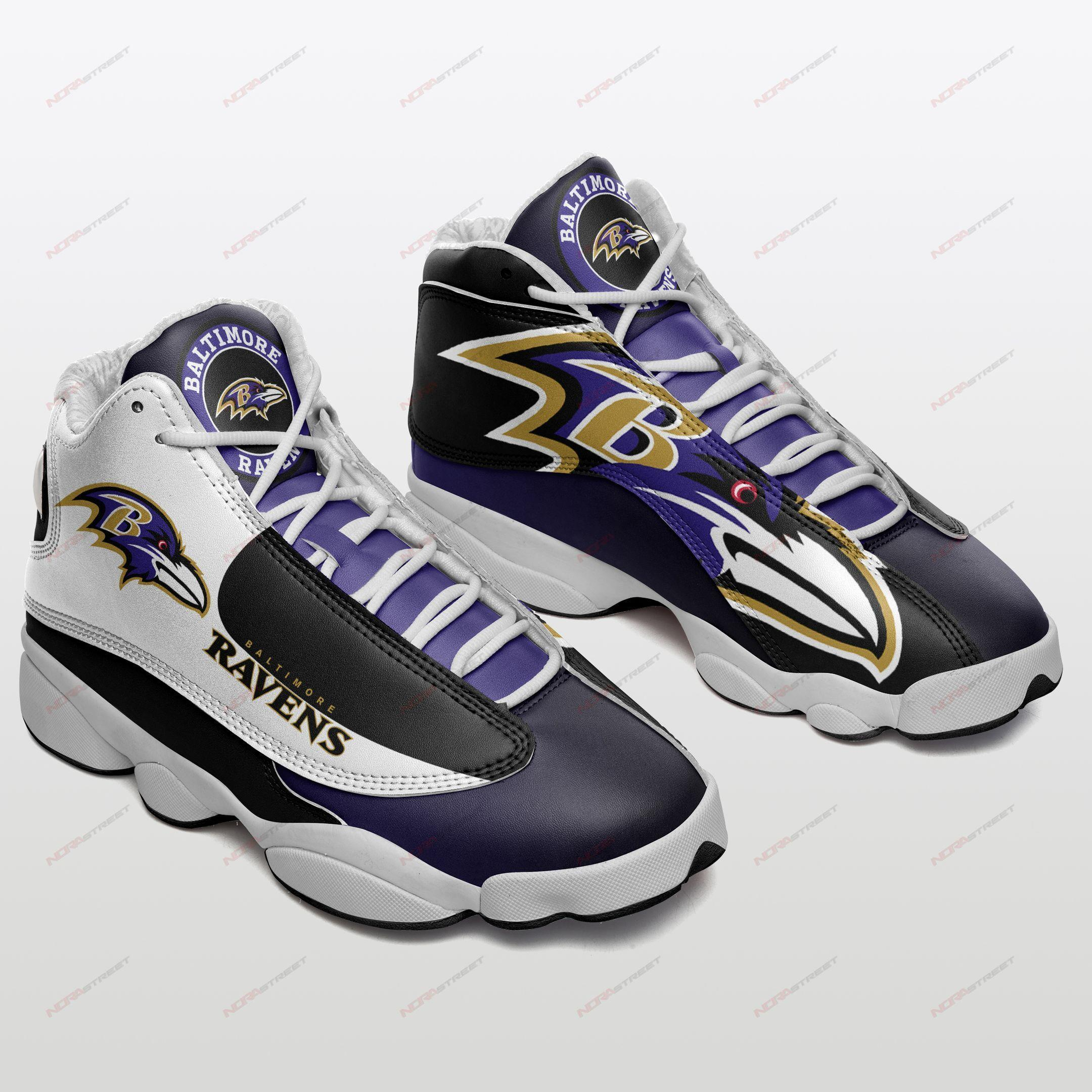 Baltimore Ravens Air Jordan 13 Sneakers Sport Shoes Plus Size