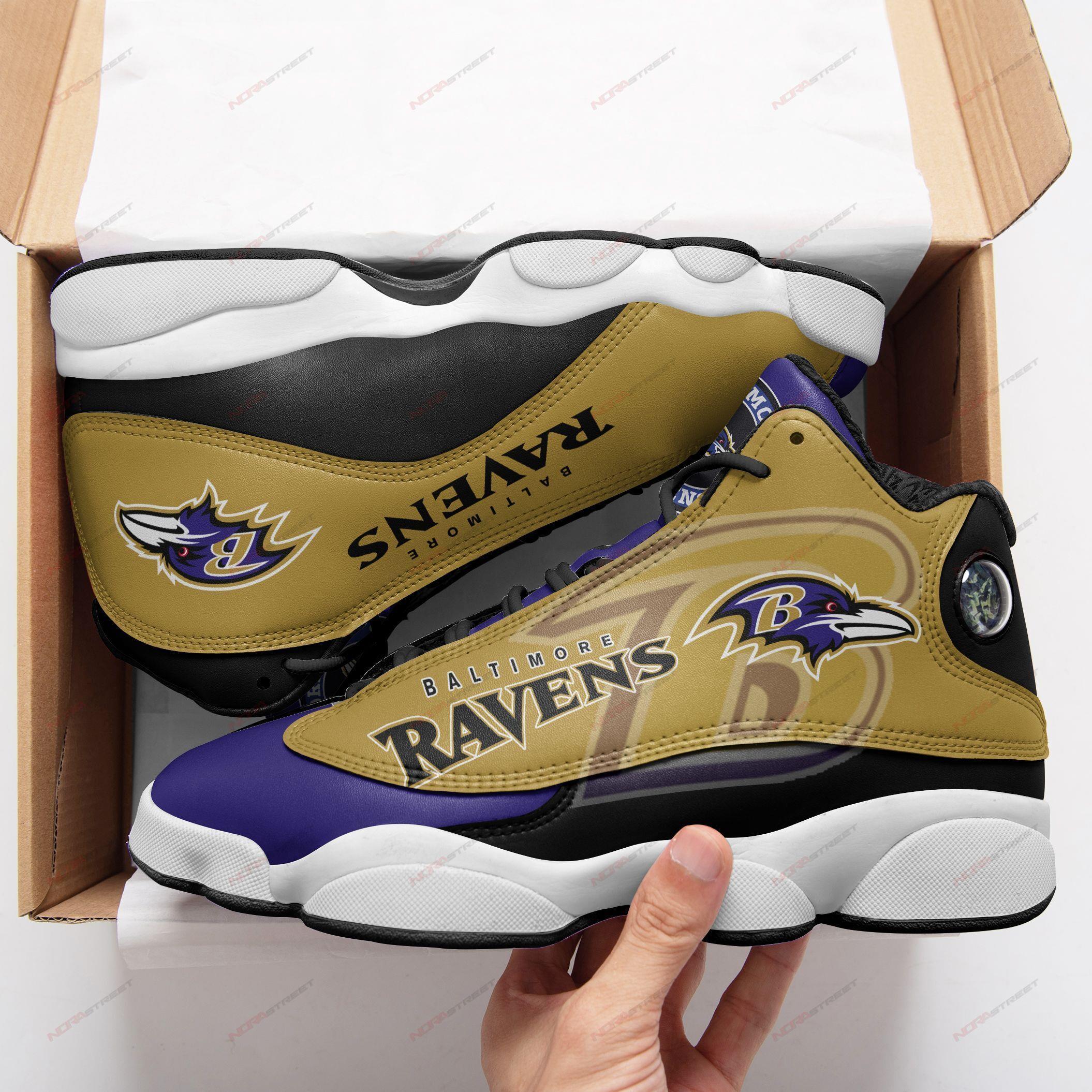Baltimore Ravens Air Jordan 13 Sneakers Sport Shoes Plus Size