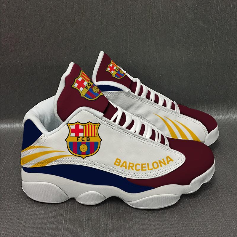 Barcelona Football Team Form Air Jordan 13 Sneakers Shoes Sport