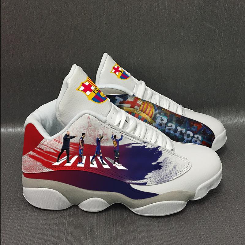 Barcelona Football Team Form Air Jordan 13 Sneakers Shoes Full Size