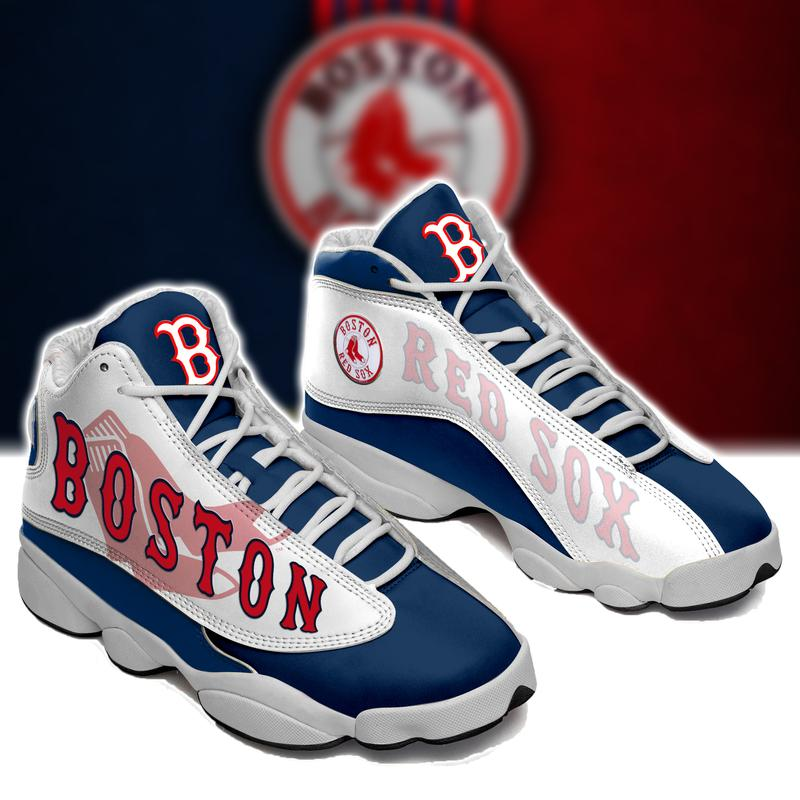 Boston Red Sox Baseball Form Air Jordan Mlb 13 Sneakers Sport Shoes Full Size