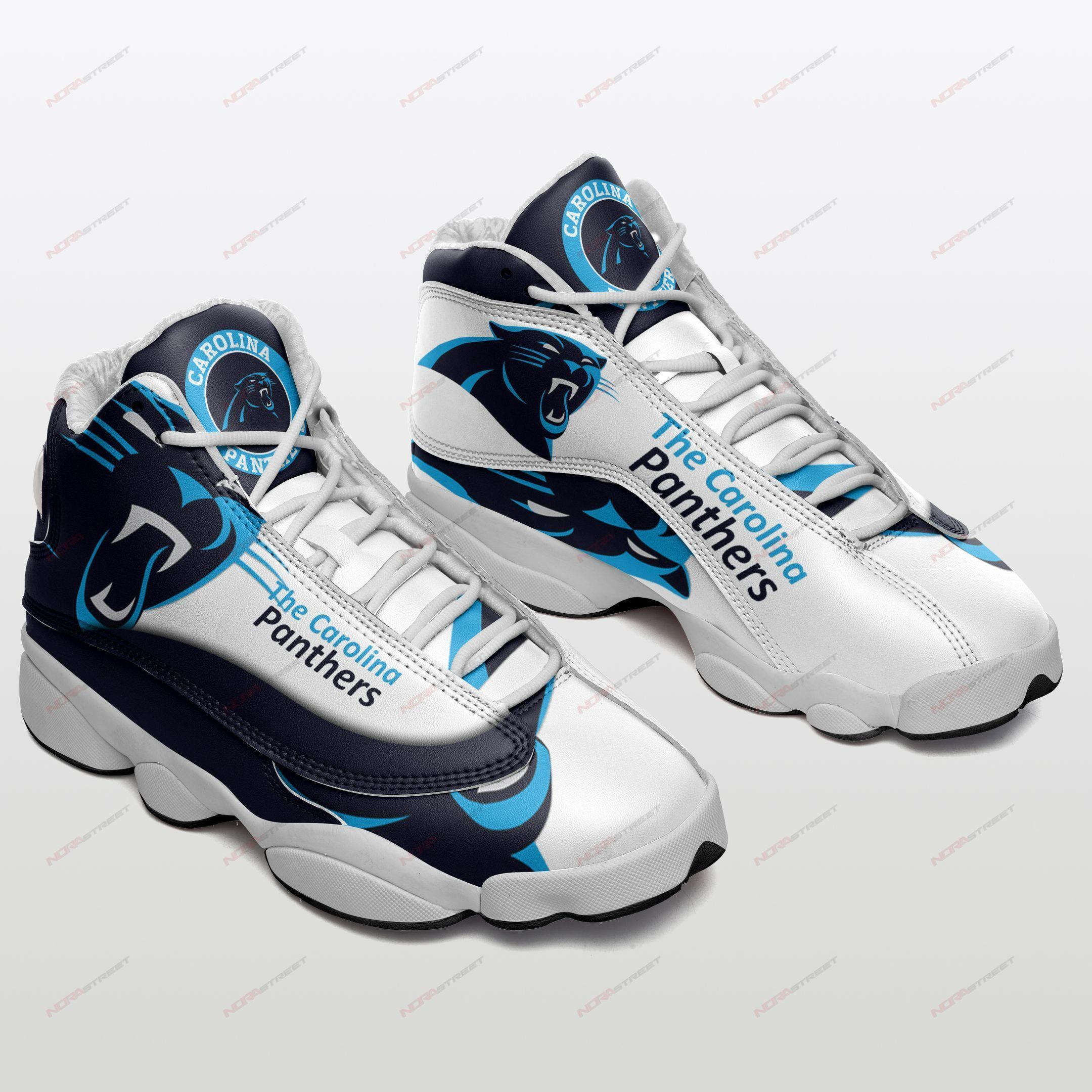 Carolina Panthers Air Jordan 13 Sneakers Sport Shoes Plus Size