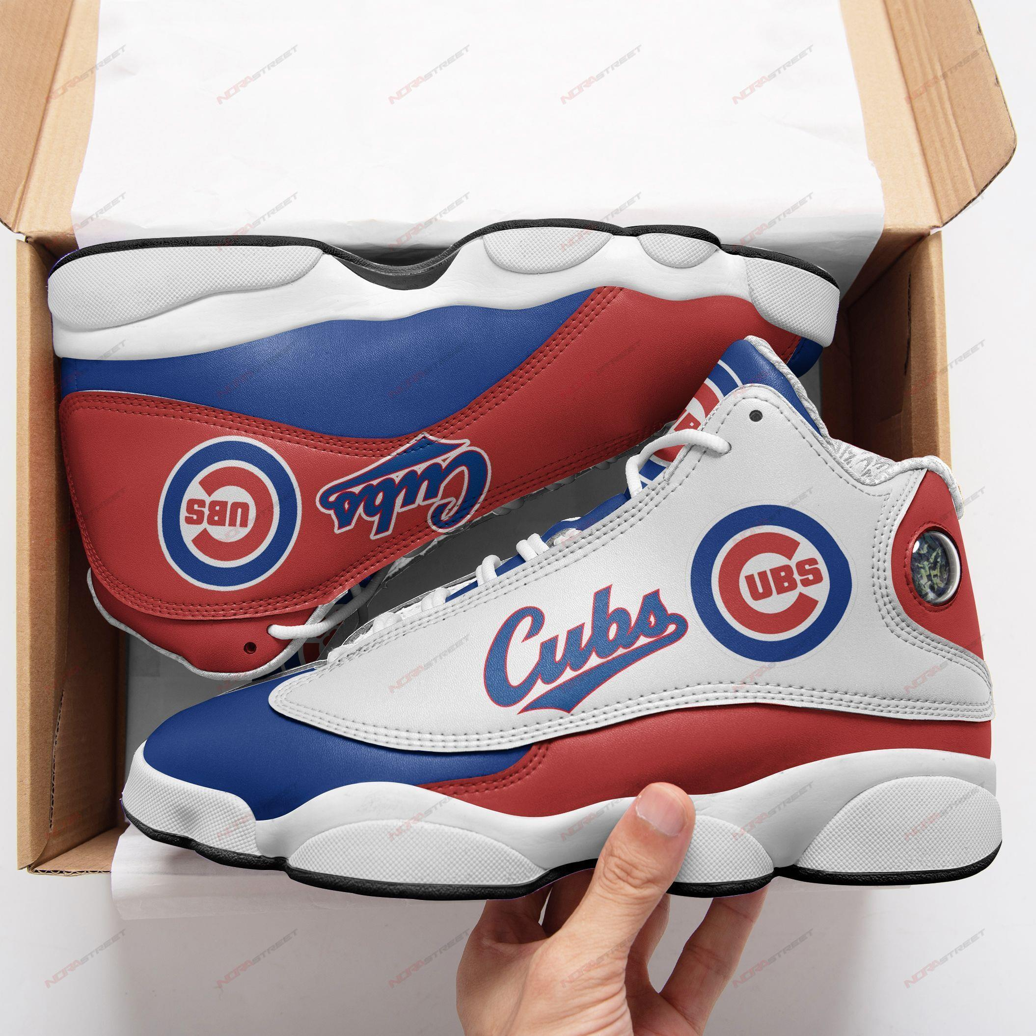 Chicago Cubs Air Jordan 13 Sneakers Sport Shoes Full Size
