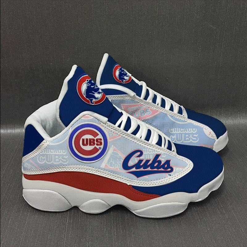 Chicago Cubs Baseball Team Form Air Jordan 13 Sneakers Plus Size