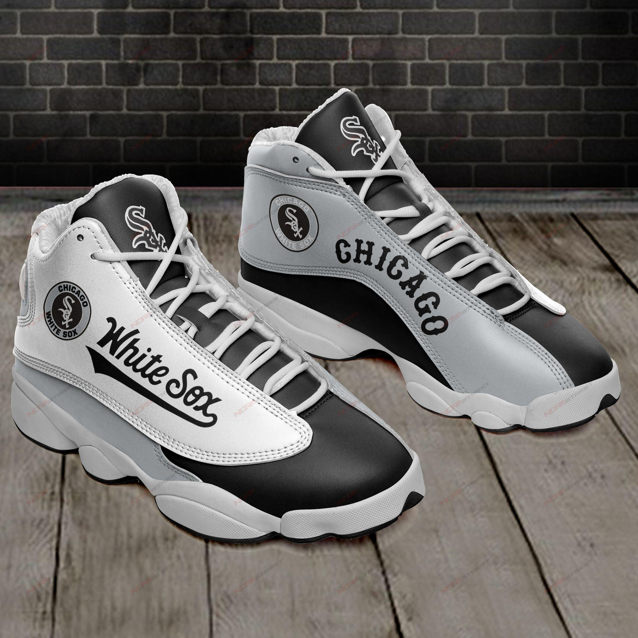 Chicago White Sox Air Jordan 13 Sneakers Sport Shoes Full Size