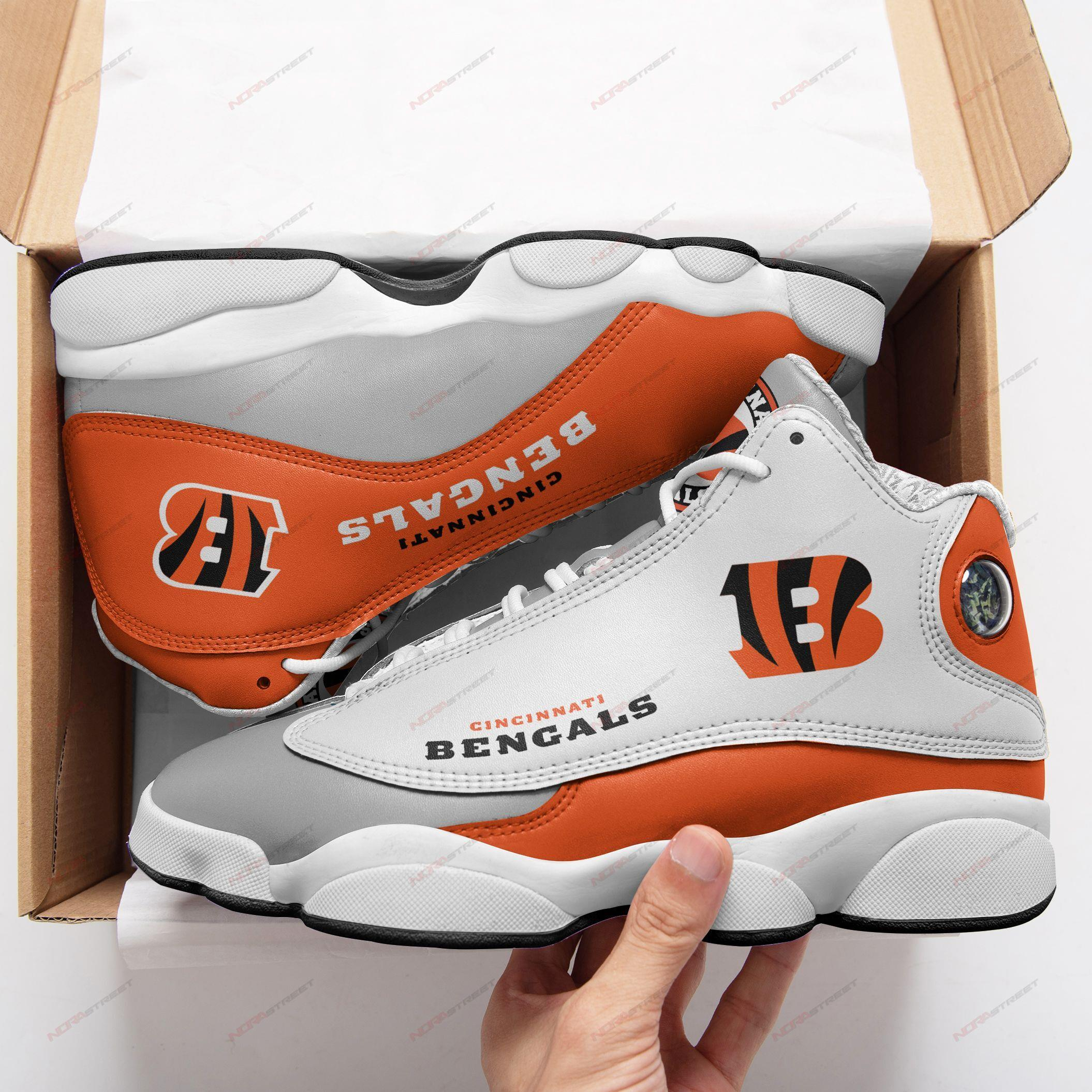 Cincinatti Bengals Air Jordan 13 Sneakers Sport Shoes Full Size