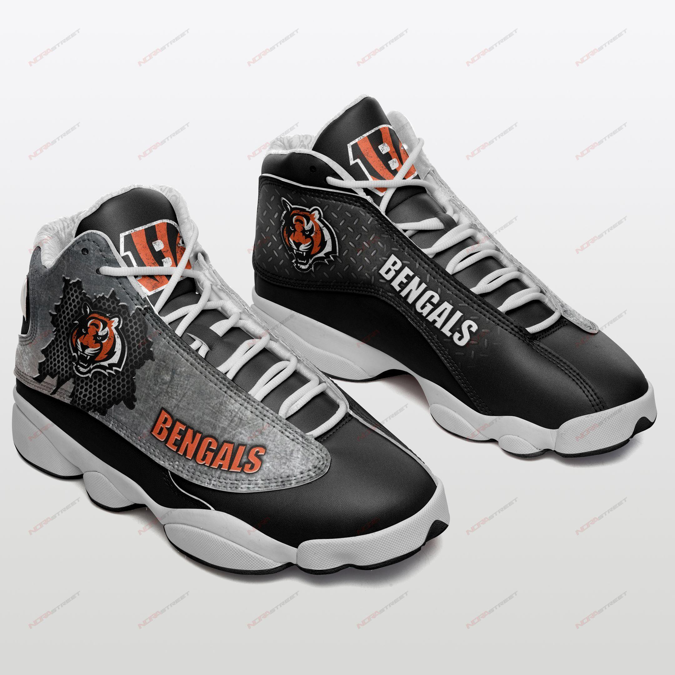 Cincinnati Bengals Air Jordan 13 Sneakers Sport Shoes Full Size