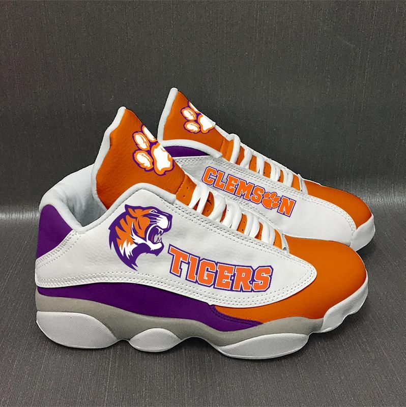 Clemson Tigers Form Air Jordan 13 Sneakers Plus Size