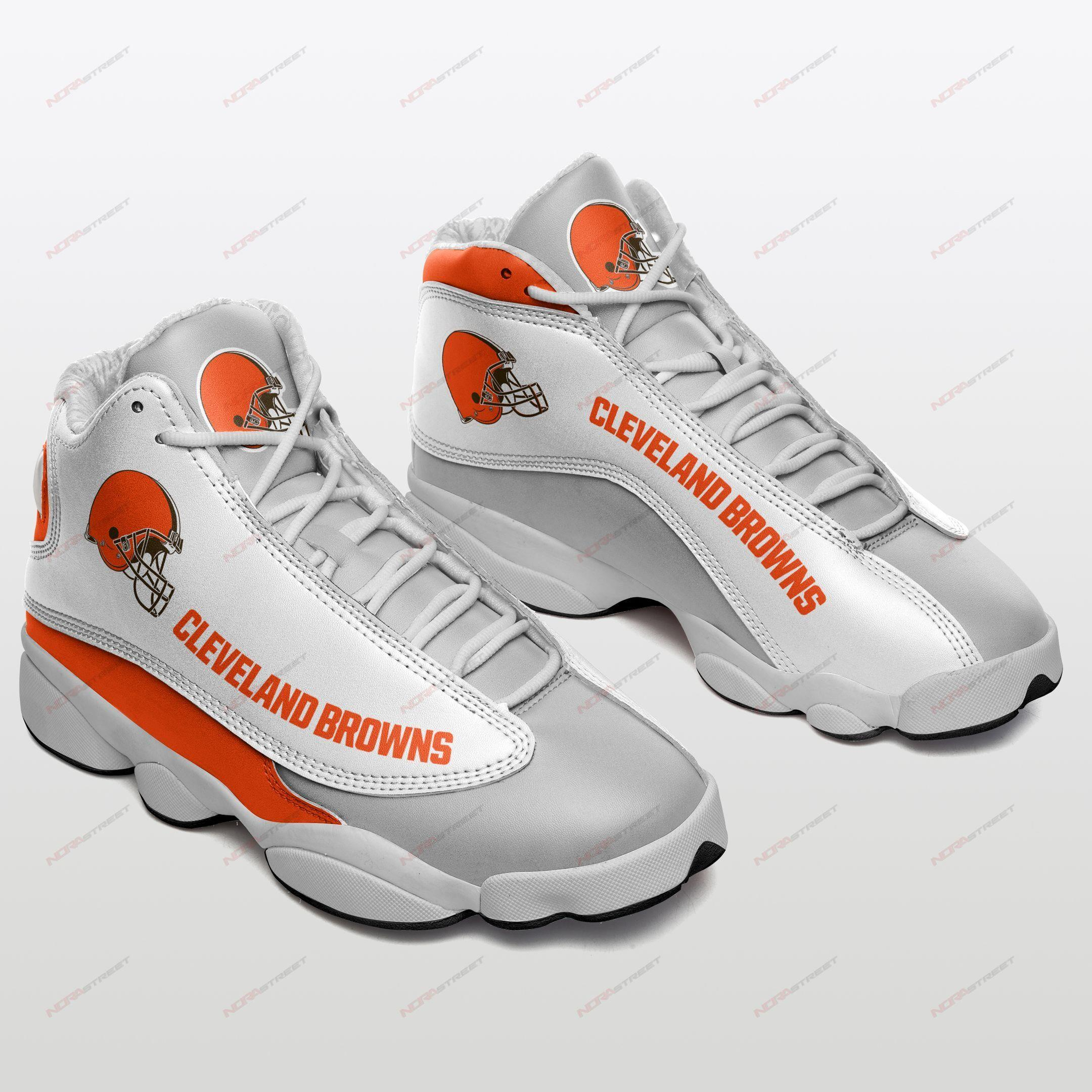 Cleveland Browns Air Jordan 13 Sneakers Sport Shoes Full Size