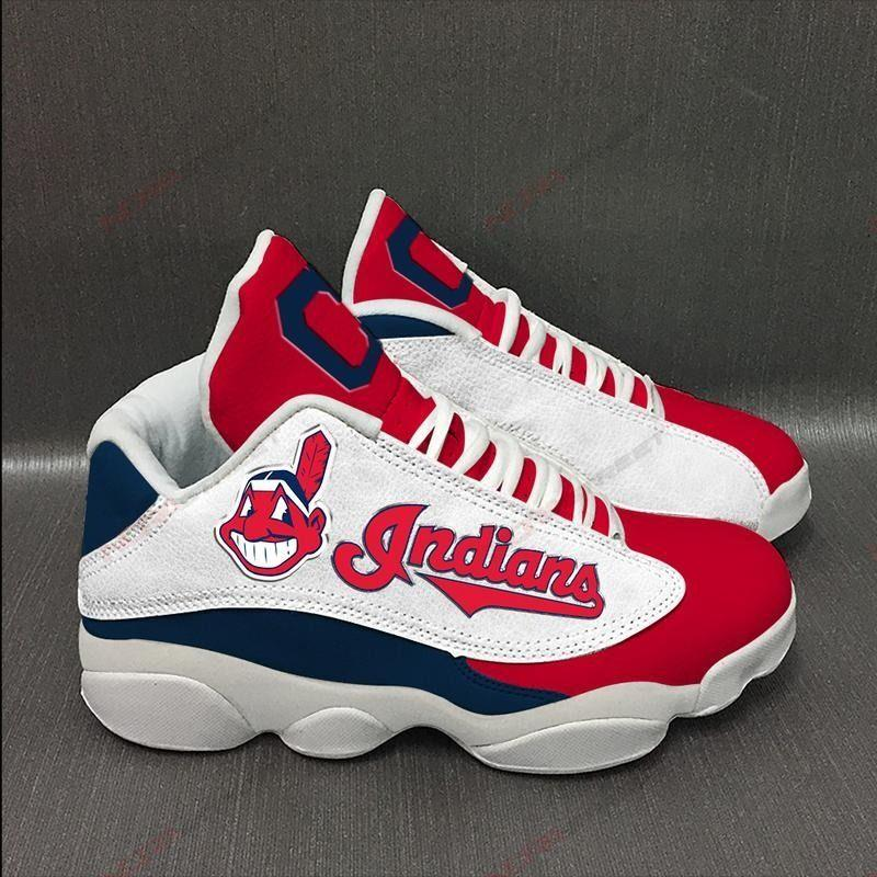 Cleveland Indians Air Jordan 13 Sneakers Sport Shoes Plus Size