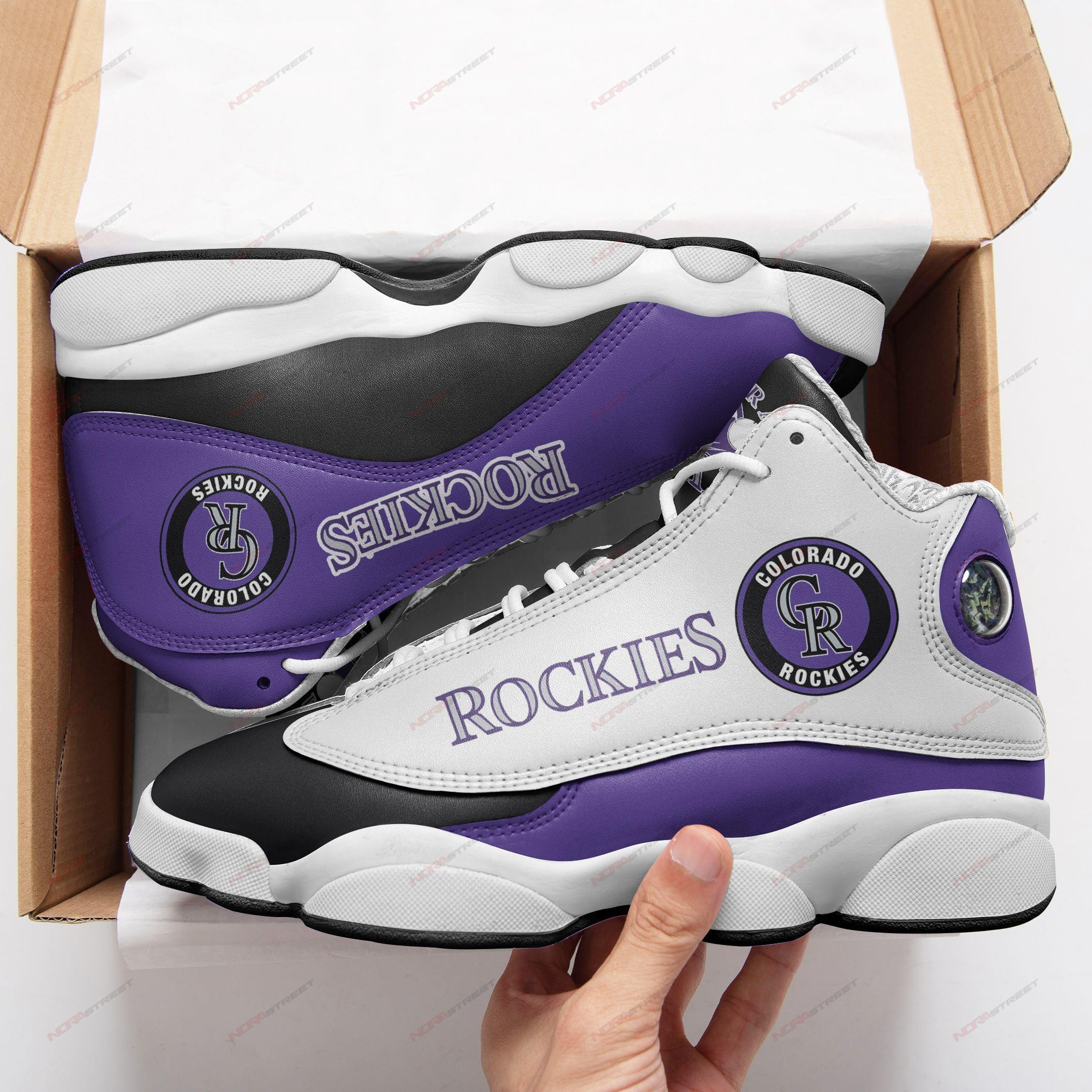 Colorado Rockies Air Jordan 13 Sneakers Sport Shoes Plus Size