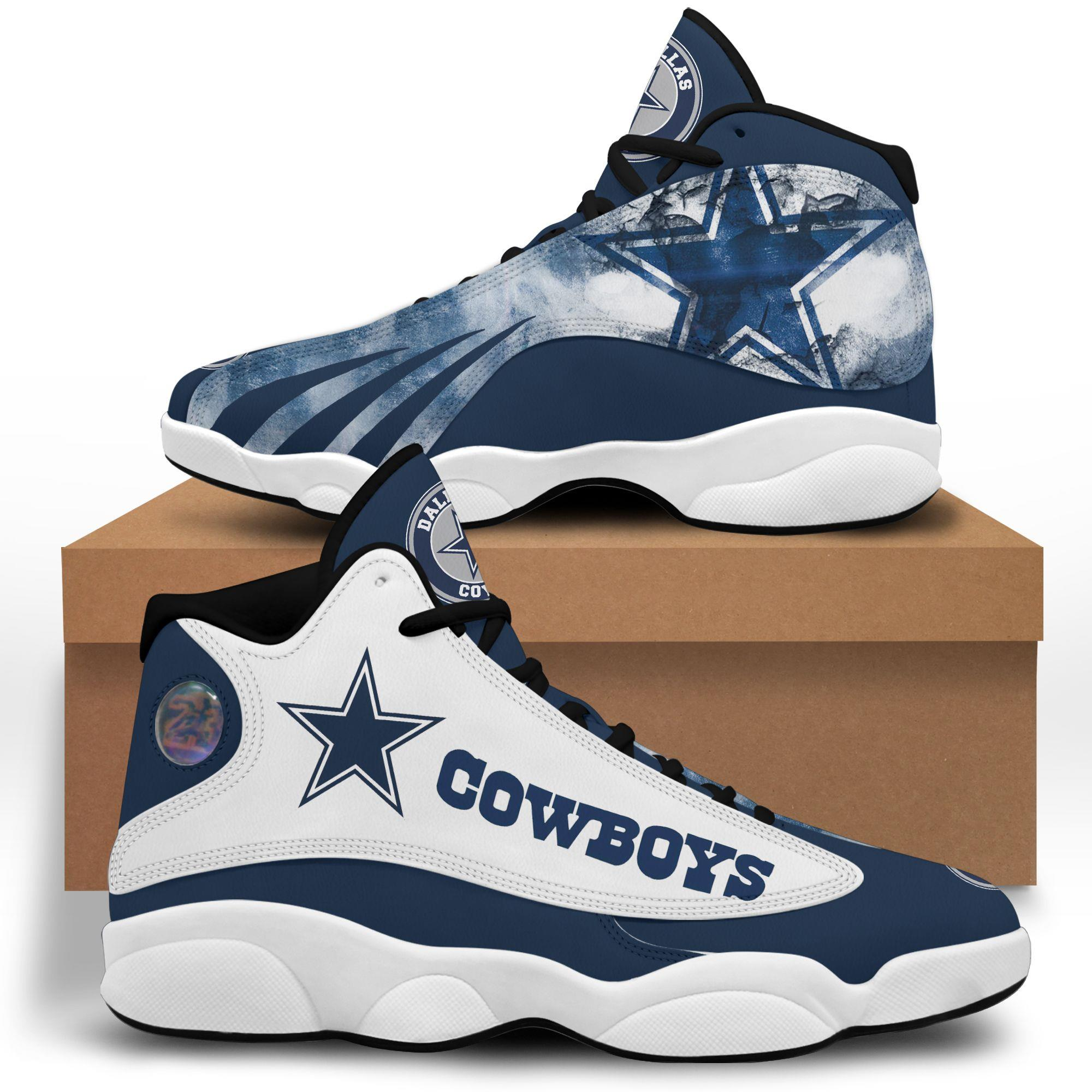 Dallas Cowboys Air Jordan 13 Custom Sneakers Running Shoes