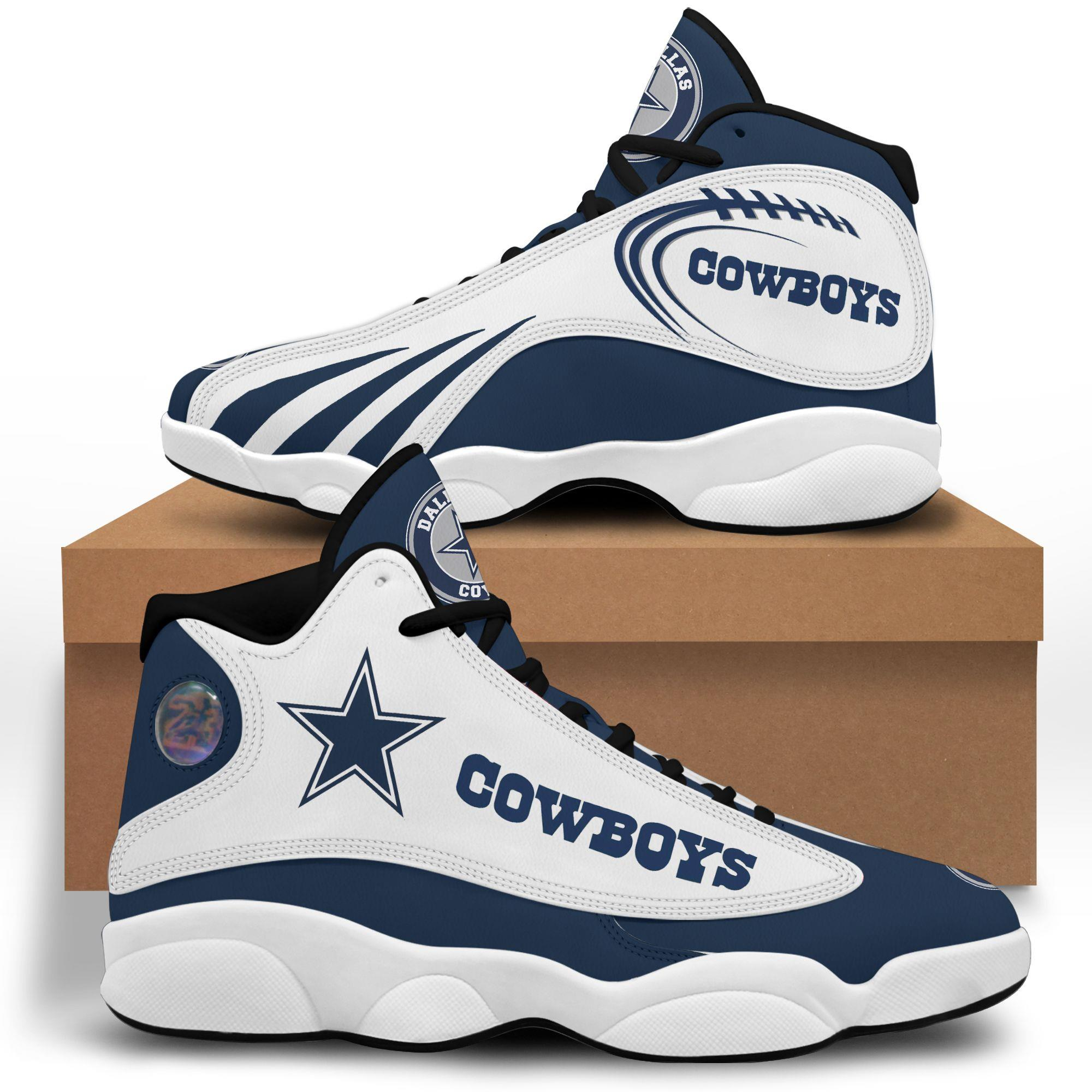 Dallas Cowboys Air Jordan 13 Custom Sneakers Running Sport